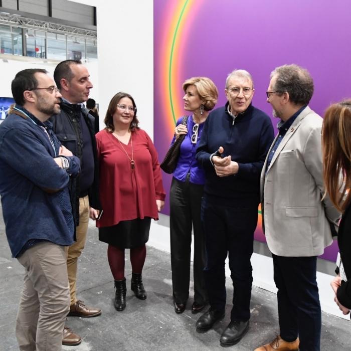 José Martí destaca en ARCO 2020 que el Servei Provincial de Restauració s'ha especialitzat en la recuperació d'obres d'art contemporani