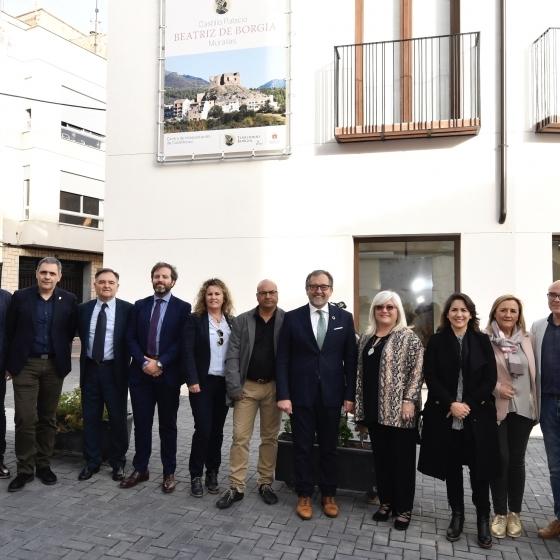 José Martí destaca el potencial turístico de Castellnovo con el nuevo centro de interpretación del Castillo Palacio Beatriz de Borgia