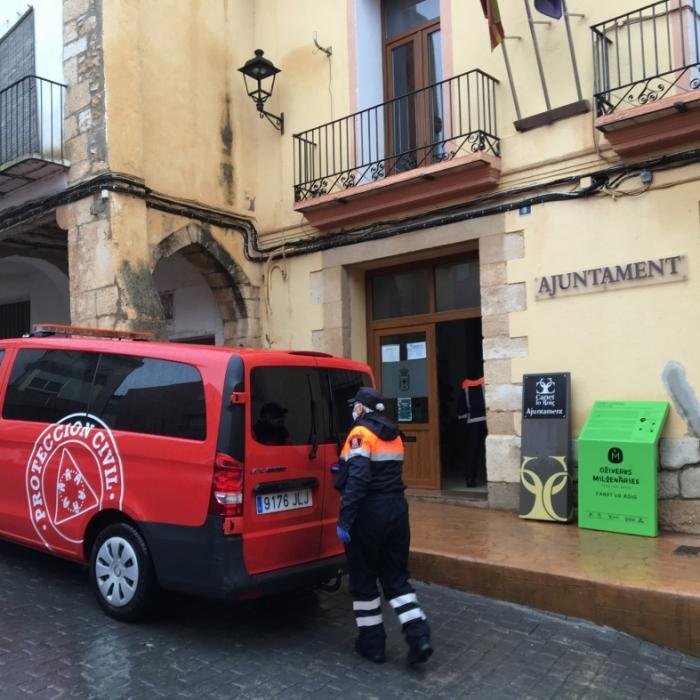 La Diputación de Castellón inicia el reparto del material sanitario de protección frente al coronavirus para atender las necesidades de los municipios