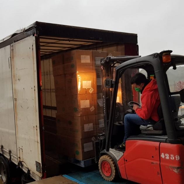 La Diputación de Castellón recibe 28.000 mascarillas procedentes de China para repartir entre los municipios de la provincia