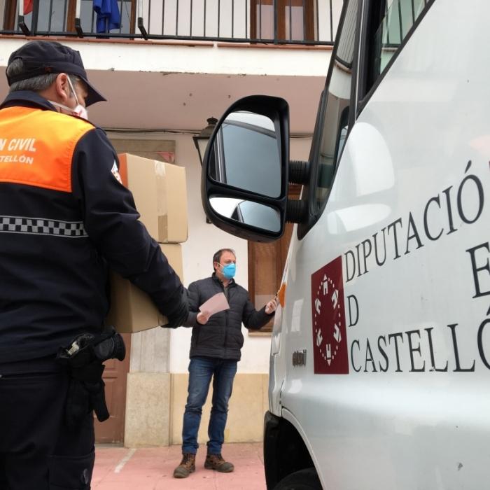 La Diputación de Castellón reparte de forma gratuita un segundo lote de material de protección frente al coronavirus a los 135 ayuntamientos y 8 mancomunidades de la provincia