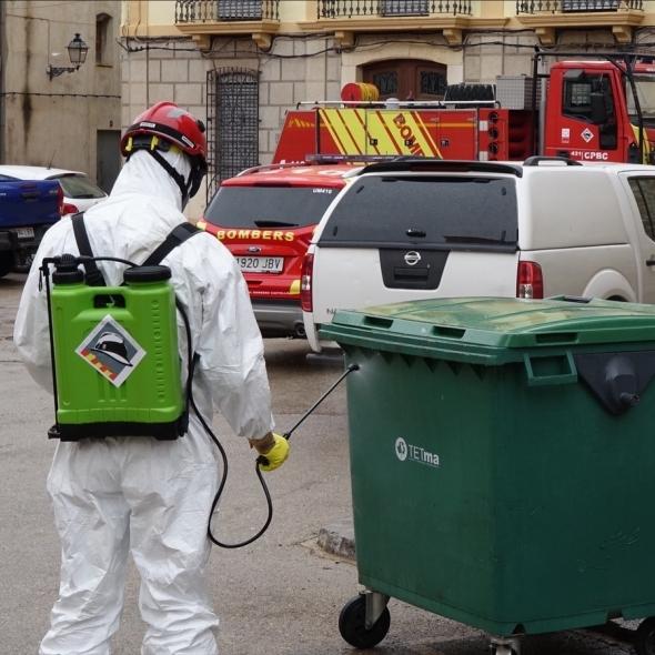 Los bomberos de la Diputación podrán realizar una desinfección por semana en todos los pueblos de la provincia