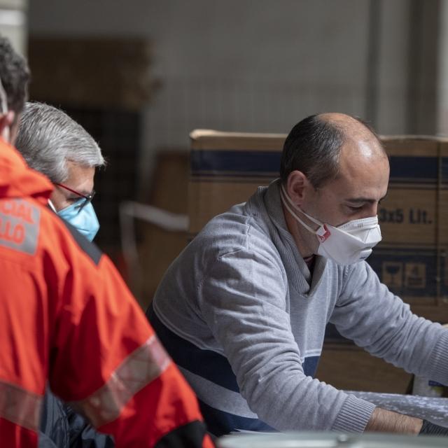 La Diputació recupera el Cocherón com a centre de recepció i emmagatzematge de material de protecció contra la Covid-19