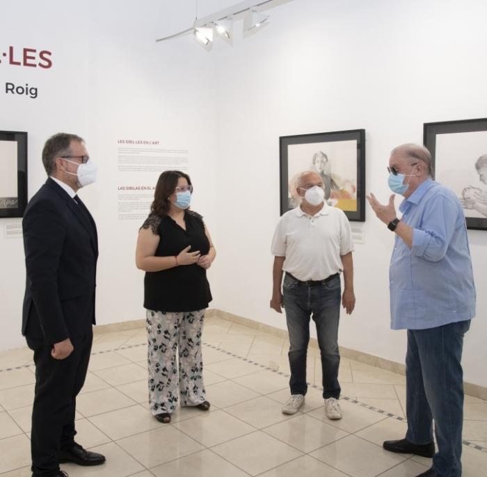 La Diputació 'reinaugura' l'exposició d'obres d'Amat Bellés a l'Espai Cultural les Aules
