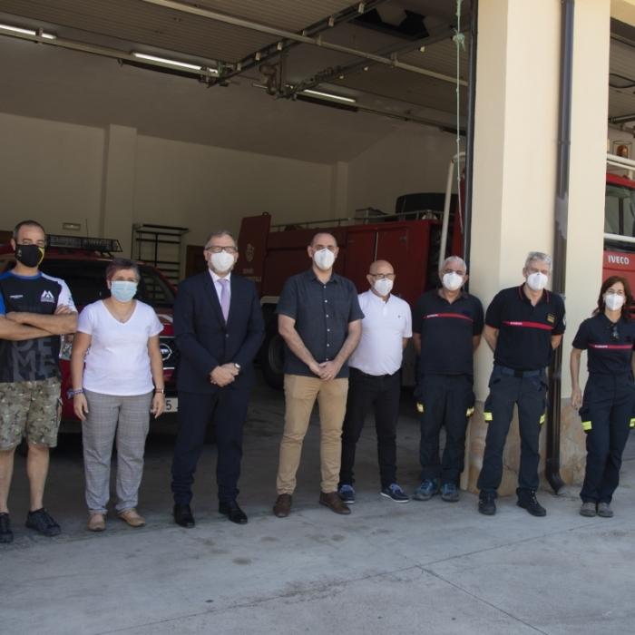 José Martí enalteix la labor de les bombers forestals per a donar una resposta ràpida enfront dels incendis a la província de Castelló