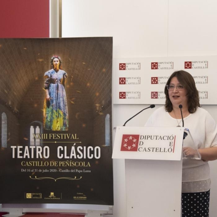 La Diputació presenta el XXIIIé Festival de Teatre Clàssic de Peníscola amb huit companyies referents a tot Espanya