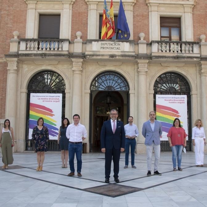 La Diputació de Castelló commemora per primera vegada de manera institucional l'Orgull LGTBI