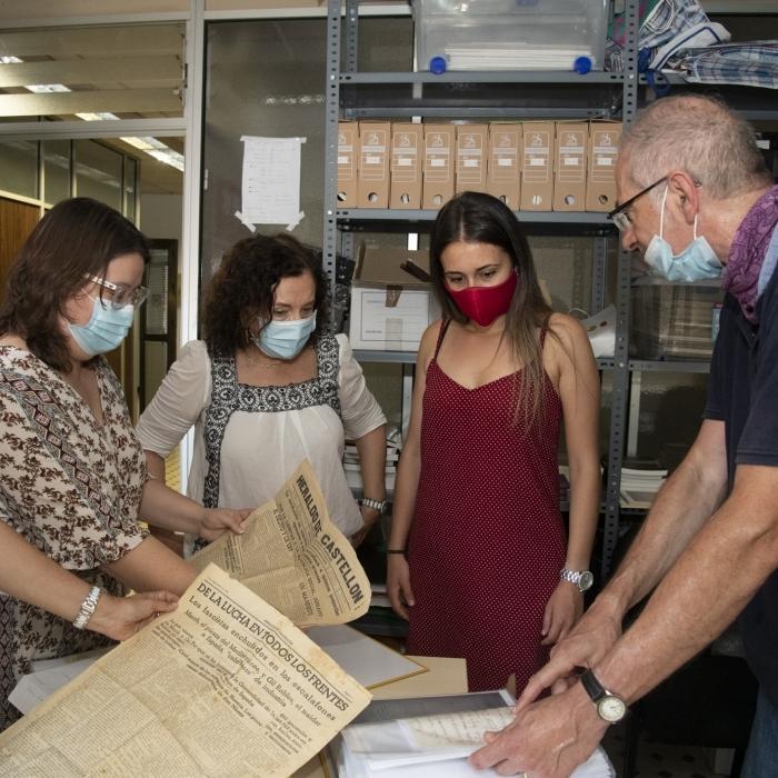 El Grupo per la Recerca de la Memoria Histórica de Castelló cederá su archivo a la Diputación para que sea accesible online