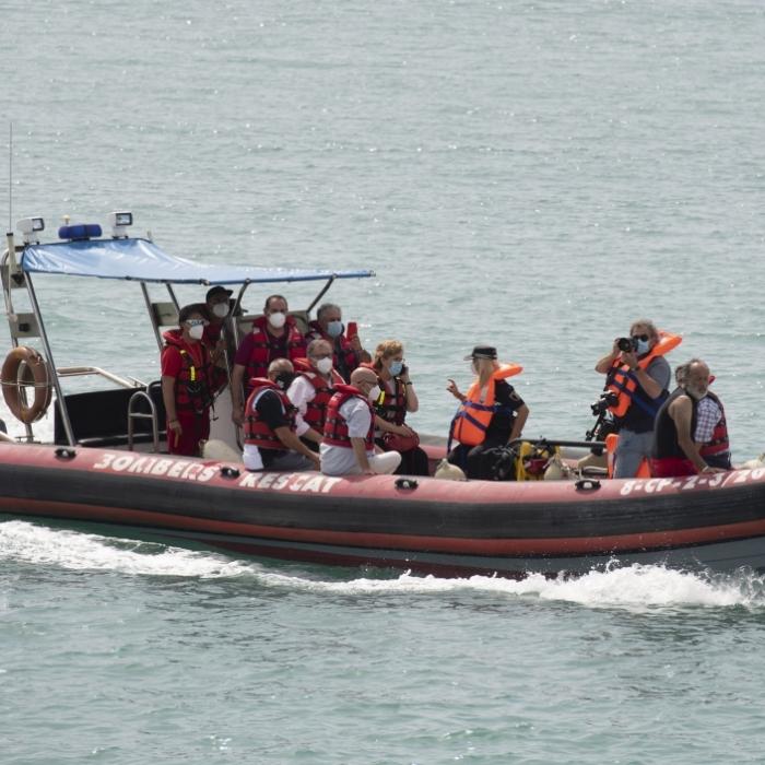 José Martí pide prudencia en el mar durante el simulacro de rescate de la Unidad Acuática del Consorcio de Bomberos realizado en Borriana