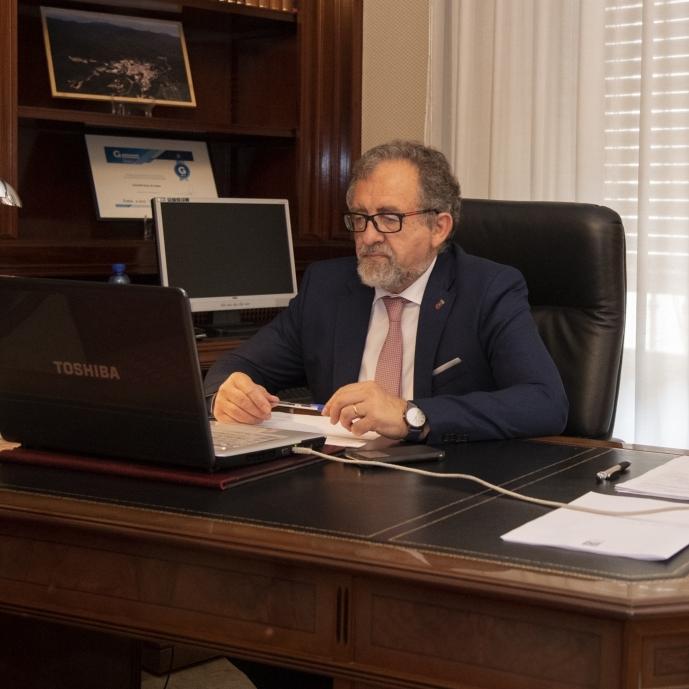 Diputación y Telefónica defienden la necesidad de potenciar la fibra óptica en la provincia y acabar con la brecha digital para hacer frente al reto demográfico