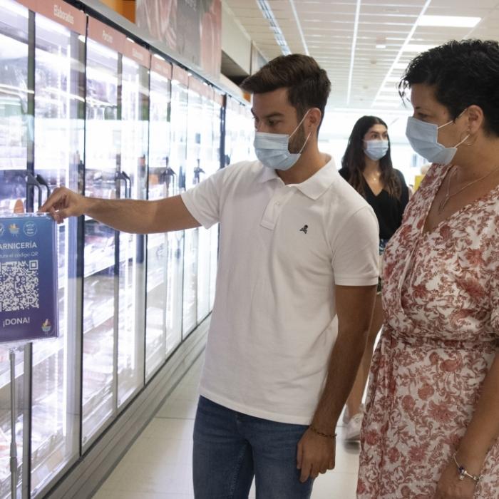 La Diputació col·labora amb 'Nadie Sin Su Ración Diaria' per a garantir l'alimentació bàsica de les persones amb menys recursos amb un innovador sistema de donacions on line