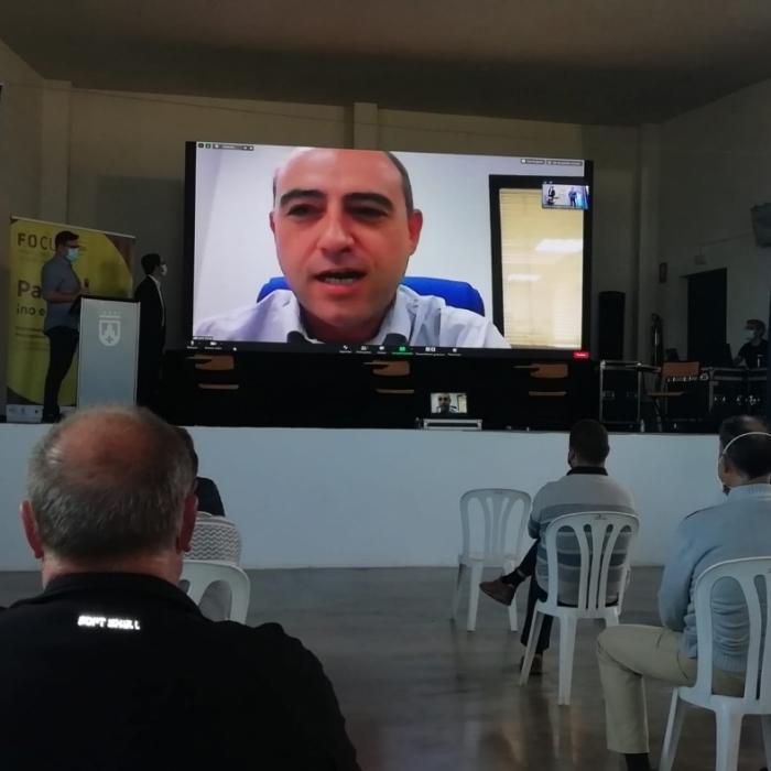 Santi Pérez anima a emprendre a l'interior provincial en l'obertura del fòrum 'FOCUS Pyme' 2020 de Vistabella
