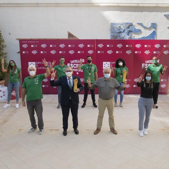 José Martí recibe al Playas de Castellón con motivo de sus éxitos en la Copa de España y el Campeonato de España de atletismo