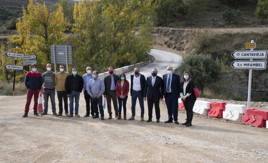 José Martí y Manuel Rando destacan las inversiones en carreteras en Castellón y Teruel para afrontar el reto demográfico y reforzar el turismo en el Maestrazgo