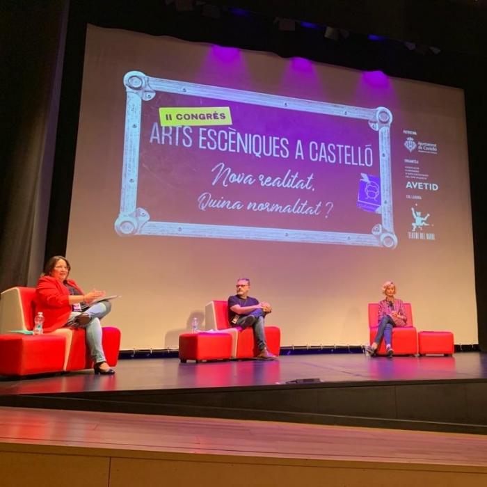 Ruth Sanz defensa en el Congrés d'Arts Escèniques  el canvi de gestió cultural de la Diputació de Castelló