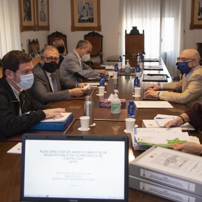La Diputació de Castelló teixix aliances amb la Confederació Hidrogràfica del Xúquer per a impulsar el Pla Director de l'Aigua