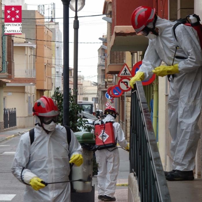 El Consorcio Provincial de Bomberos coordinará las solicitudes de desinfección que formulen los ayuntamientos de la provincia