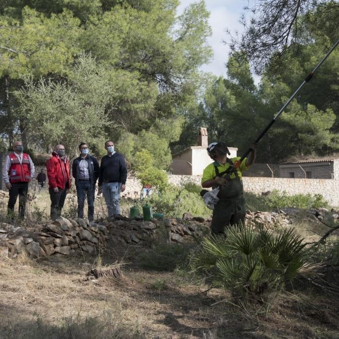 La Diputació coordina a l'Alcora la creació d'un tallafocs que evite la propagació d'incendis en la urbanització de 'El Pantano'