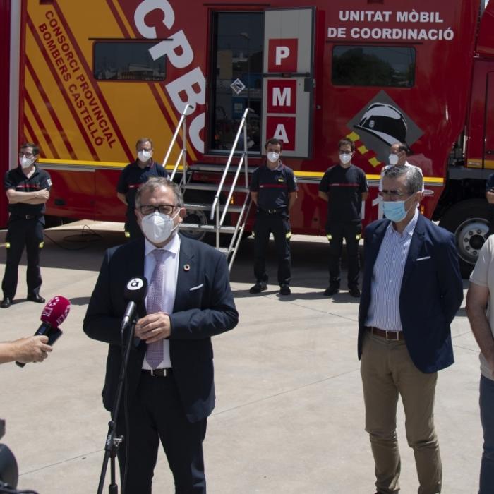 José Martí destaca que el presupuesto de 20,4 millones de euros del Consorcio Provincial de Bomberos en 2021 permitirá crear 19 nuevas plazas de trabajo fijas