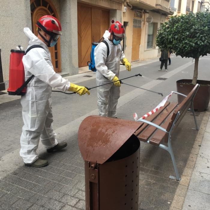 La Diputación realiza desde el inicio de la pandemia 600 desinfecciones en los pueblos para liberar los espacios públicos de Covid-19