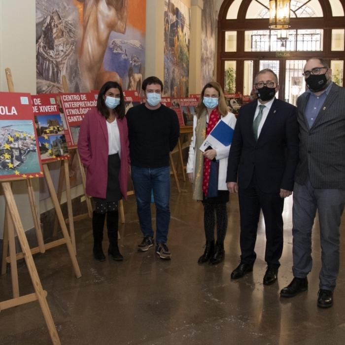 La Diputación de Castellón inaugura una exposición sobre el impacto de los fondos europeos en la provincia