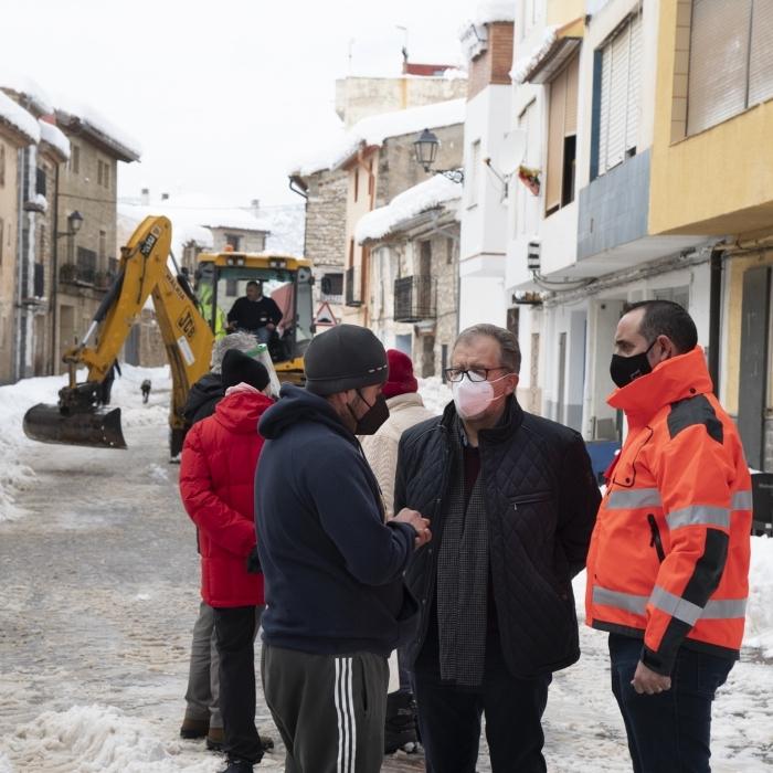 El pleno de la Diputación aprobará el martes una moficación de crédito de 323.000 euros para activar las subvenciones a los ayuntamientos por la borrasca Filomena