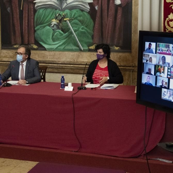La Diputación aprueba en el pleno su adhesión al 'Plan Resistir' para transferir de inmediato a los ayuntamientos su aportación de 4,1 millones de euros