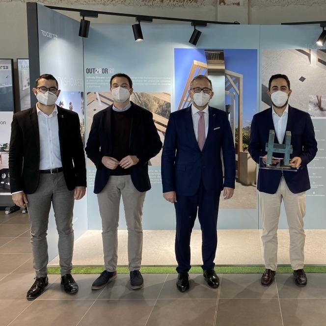 La Diputación de Castellón incentiva la innovación en el sector cerámico como motor de crecimiento con un reconocimiento a Rocersa