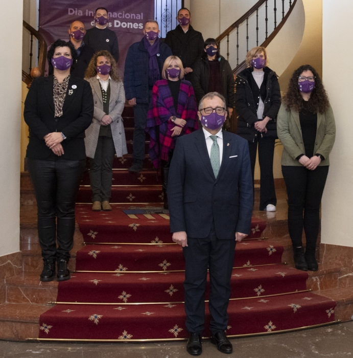 La Diputació de Castelló mostra unitat política en el 8M per a reclamar una igualtat real i efectiva entre dones i homes