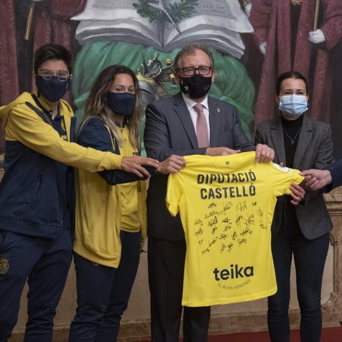 La Diputació rep l'equip femení del Vila-real C.F amb motiu del seu ascens a primera divisió