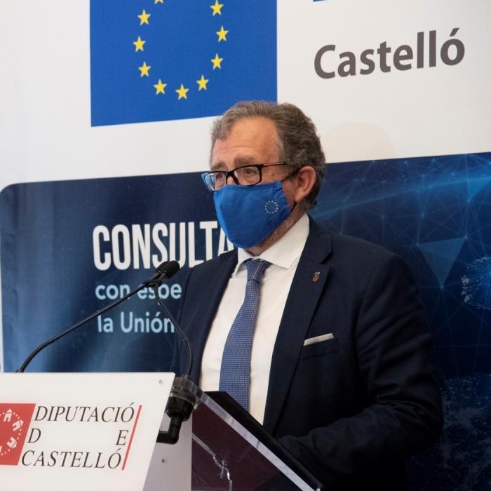 La Diputació destinarà 100.000 euros a l'obertura a Castelló d'una oficina tècnica de la FVMP sobre Fons Europeus
