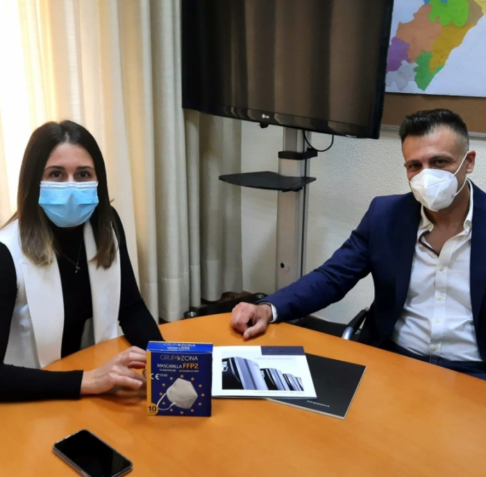 La Diputación y 'Grupo Zona' protegerán con 50.000 mascarillas la recuperación de los eventos deportivos en la provincia