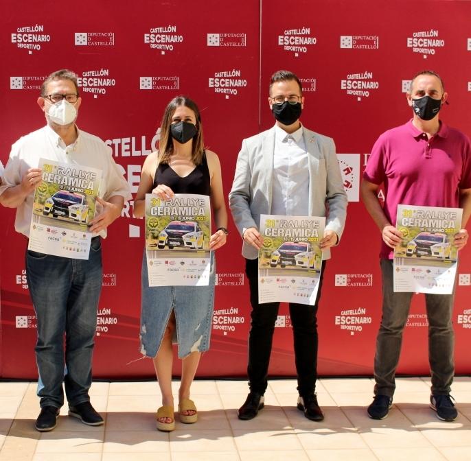 La Diputación de Castellón respalda la XXXI edición del Rallye de la Cerámica para reactivar el sector del deporte de la provincia
