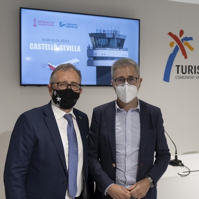 La Diputació promocionarà el producte turístic de la província a Sevilla i Bilbao de la mà d'Aerocas gràcies a les dues línies aèries des de Castelló