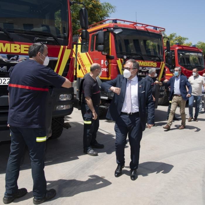 El Consorcio de Bomberos de la Diputación activa un dispositivo contra incendios de 750 efectivos, 200 vehículos y 5 medios aéreos