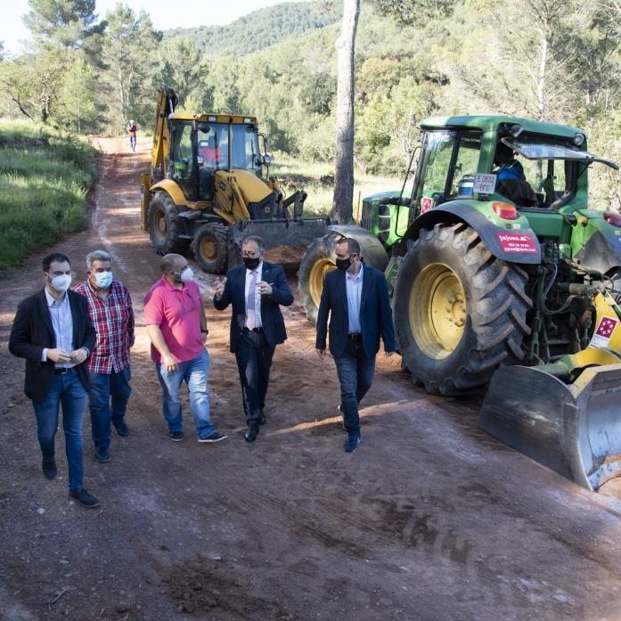 La Diputación invertirá 916.000 euros en 2021 en el mantenimiento de pistas y caminos rurales de los pueblos de menos de cinco mil habitantes