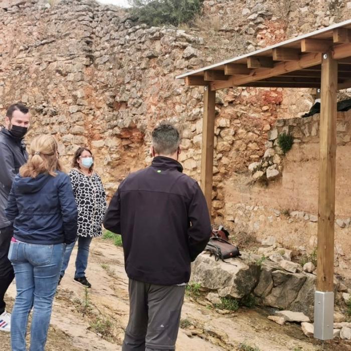 La Diputació de Castelló inicia a Xivert els treballs de protecció de les pintures templeres del castell