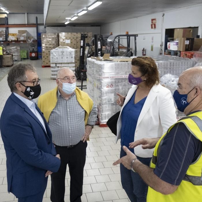 José Martí destaca el treball solidari dels voluntaris del Banc d'Aliments en favor de les persones que necessiten ajuda per a subsistir