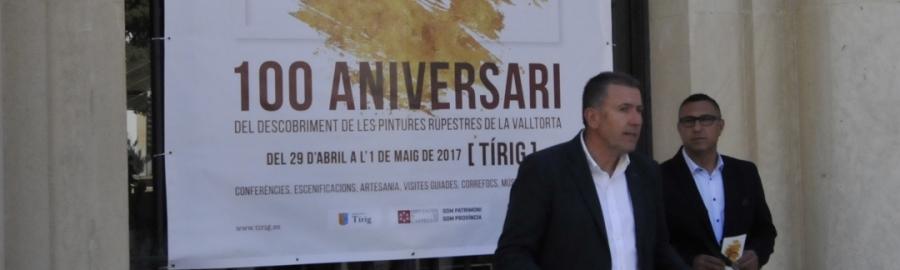 Centenari descobriment pintures rupestres a Tírig