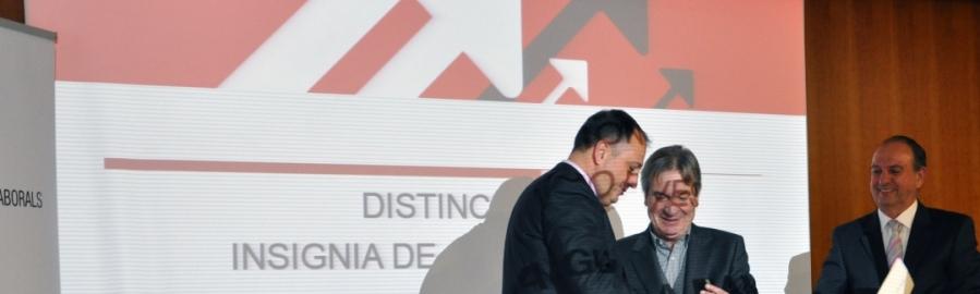 La Diputación recibe la insignia de Oro de la Federación de Empresas de Economía Social
