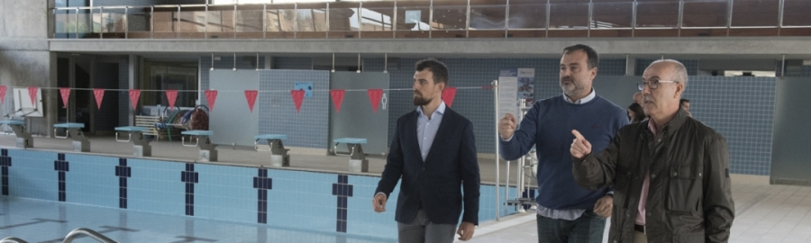 La Diputación evalúa ya el estado de la piscina provincial