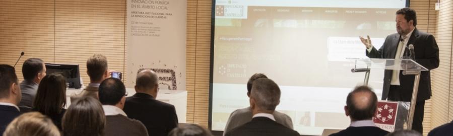 Moliner presenta el Portal de Gobierno Abierto de la Diputación
