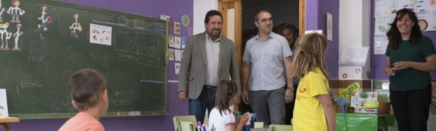La Diputación reactiva el servicio de Escoles Matineres con 23 centros escolares
