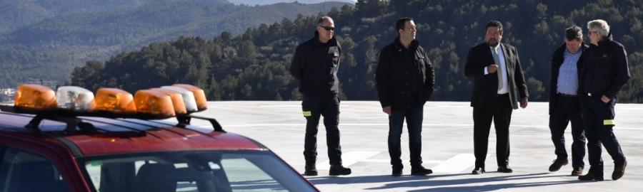 Diputación amplía la red provincial de helisuperficies para la evacuación médica