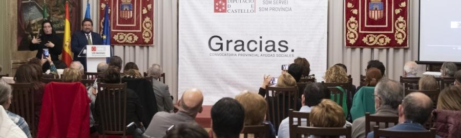 Diputación lidera la mayor inversión a colectivos sociales de la provincia