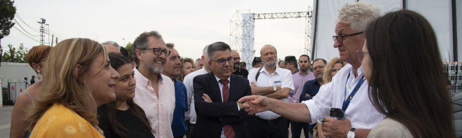 Martí asegura la colaboración de la Diputación con los festivales de música en su visita al FIB