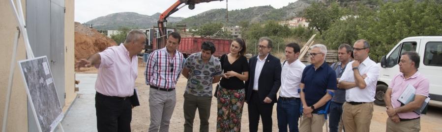 El nou col·lector d'aigües residuals de Borriol funcionarà a la tardor