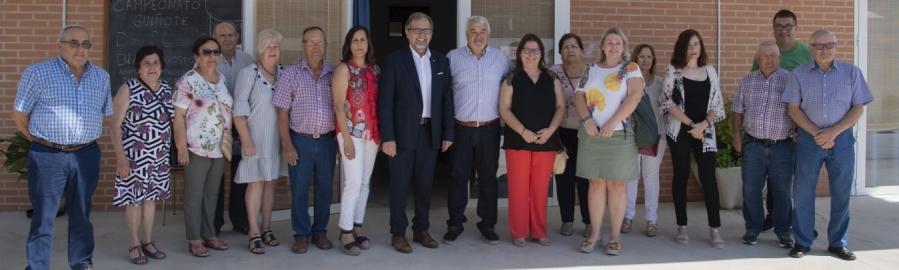 Martí visita las obras de la Diputación en Albocàsser con una inversión de 592.000 euros