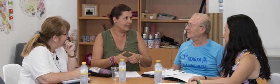 La Diputació col·labora amb AFDEM en defensa dels drets de les persones amb malaltia mental