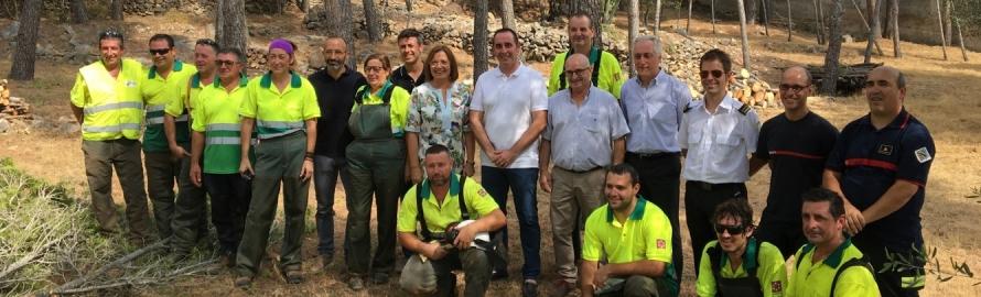 La Diputació actua en 60 municipis per a mitigar riscos d'incendis i riuades des de 2017
